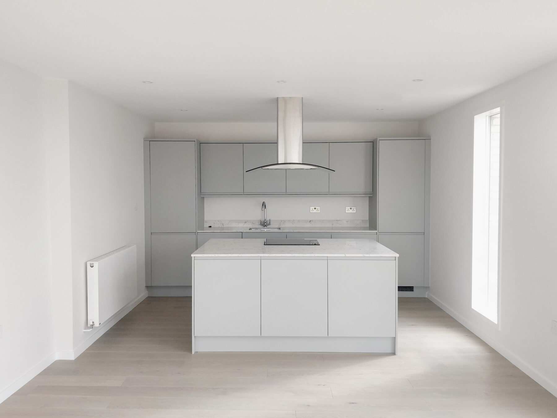 Water Lane Residential New Build Community Kitchen Island