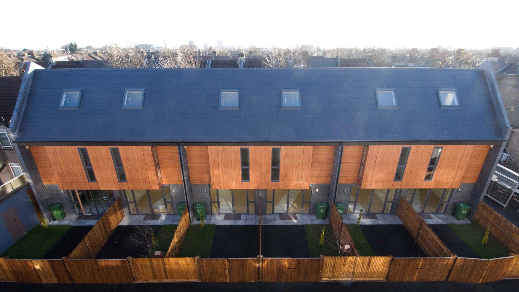 Romford Road 04 External Rear Affordable Housing Houses