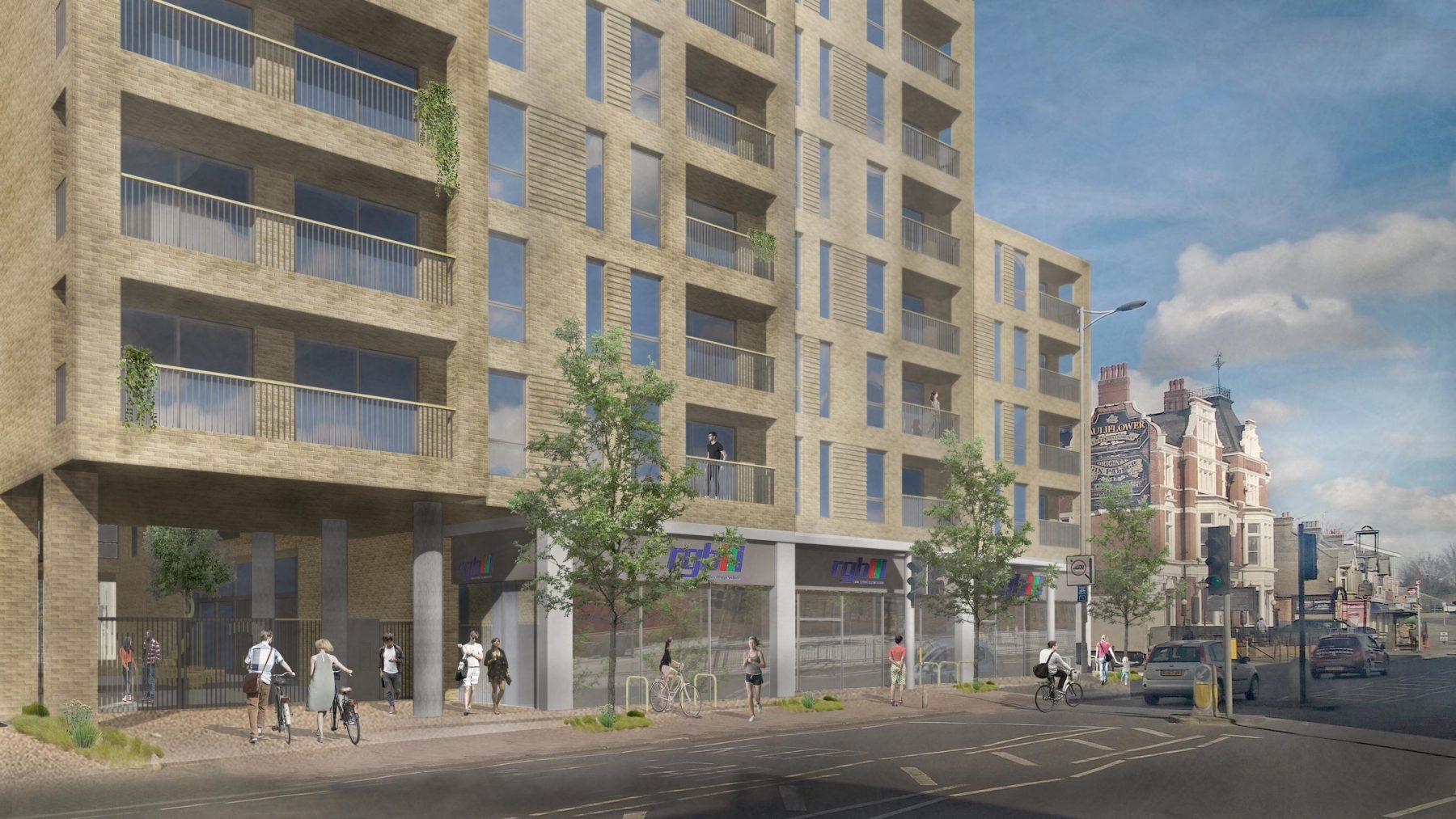 High Road 03 3D Visualisation Residential Housing Brick RGB Cauliflower NewLondonVernacular