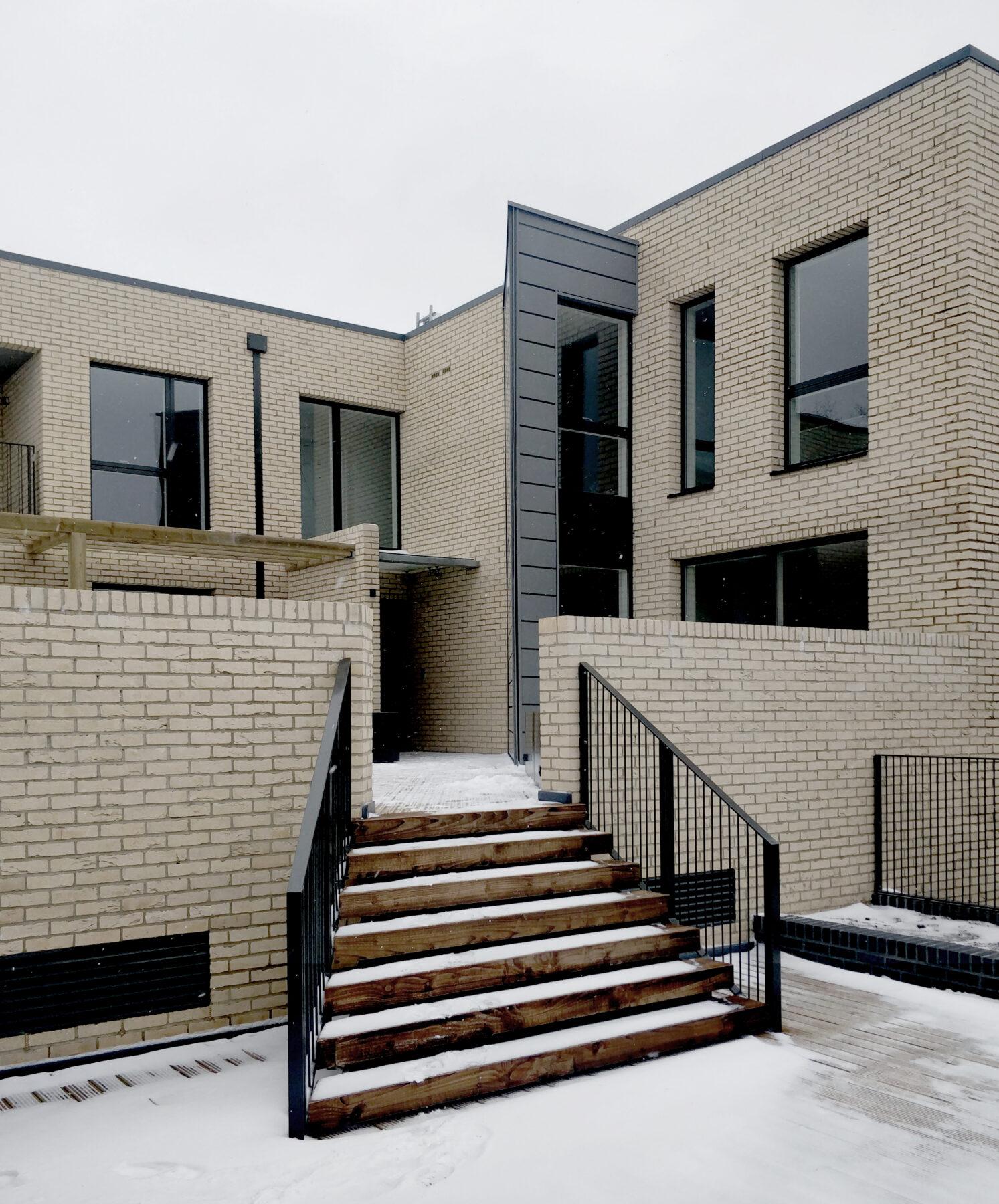 Water Lane Terrace Steps Residential Brick Metal