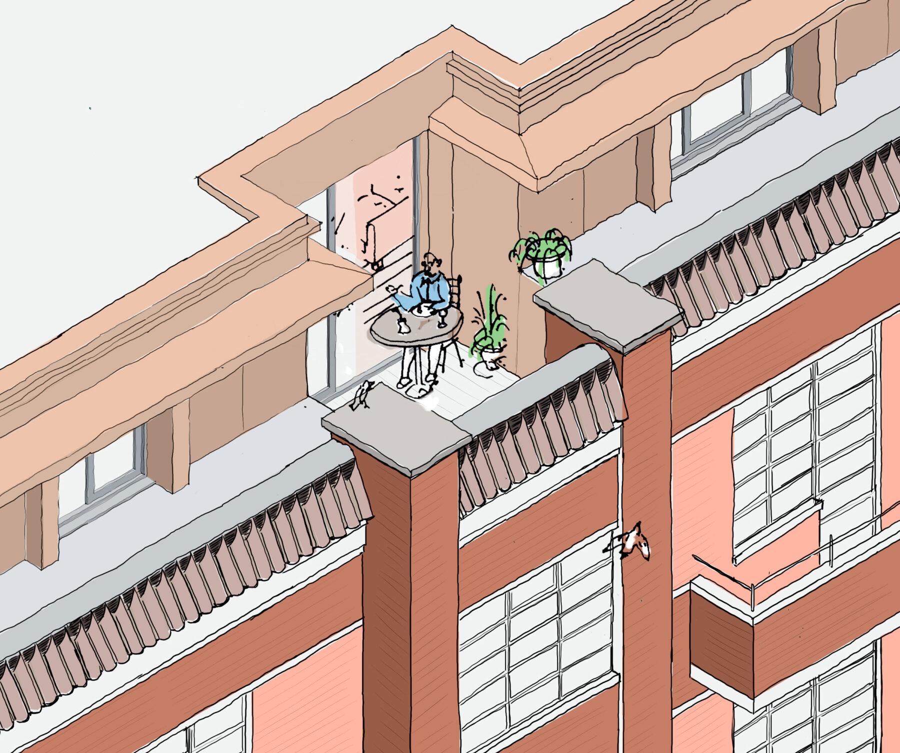 Highcroft 03 Balcony Study Highgate Conservation