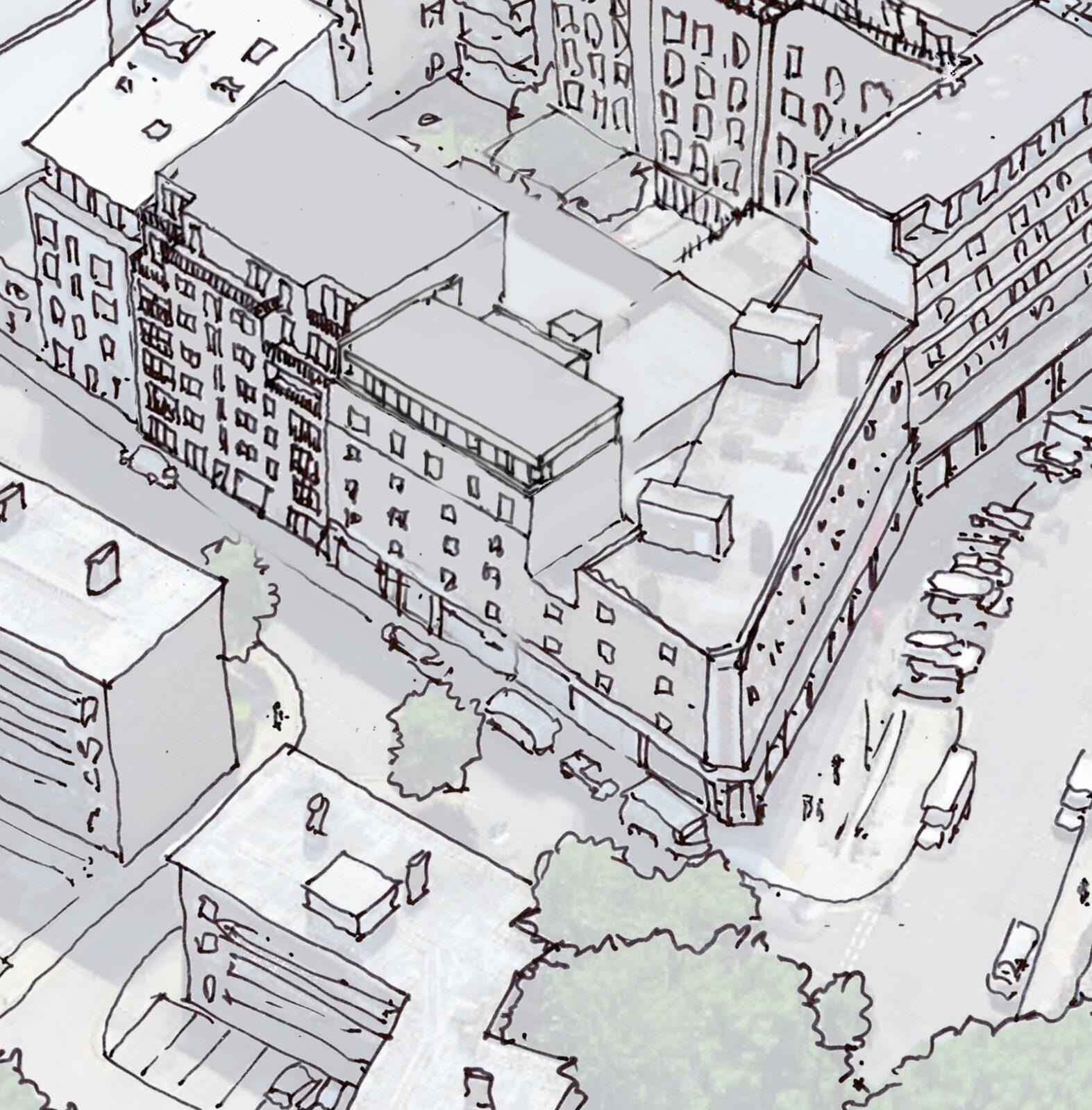 Sketch birdseye view of 66 Nelson Street