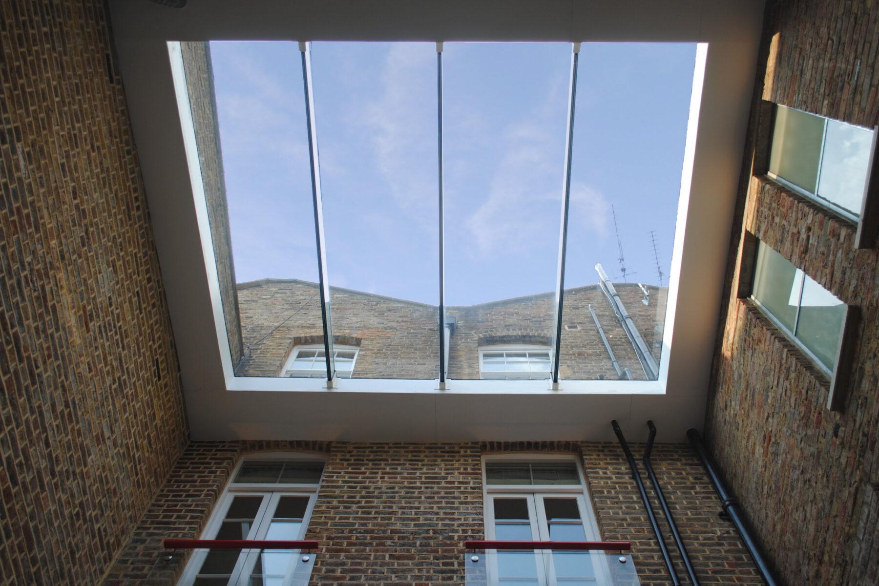 Photo of glazed canopy over lightwell