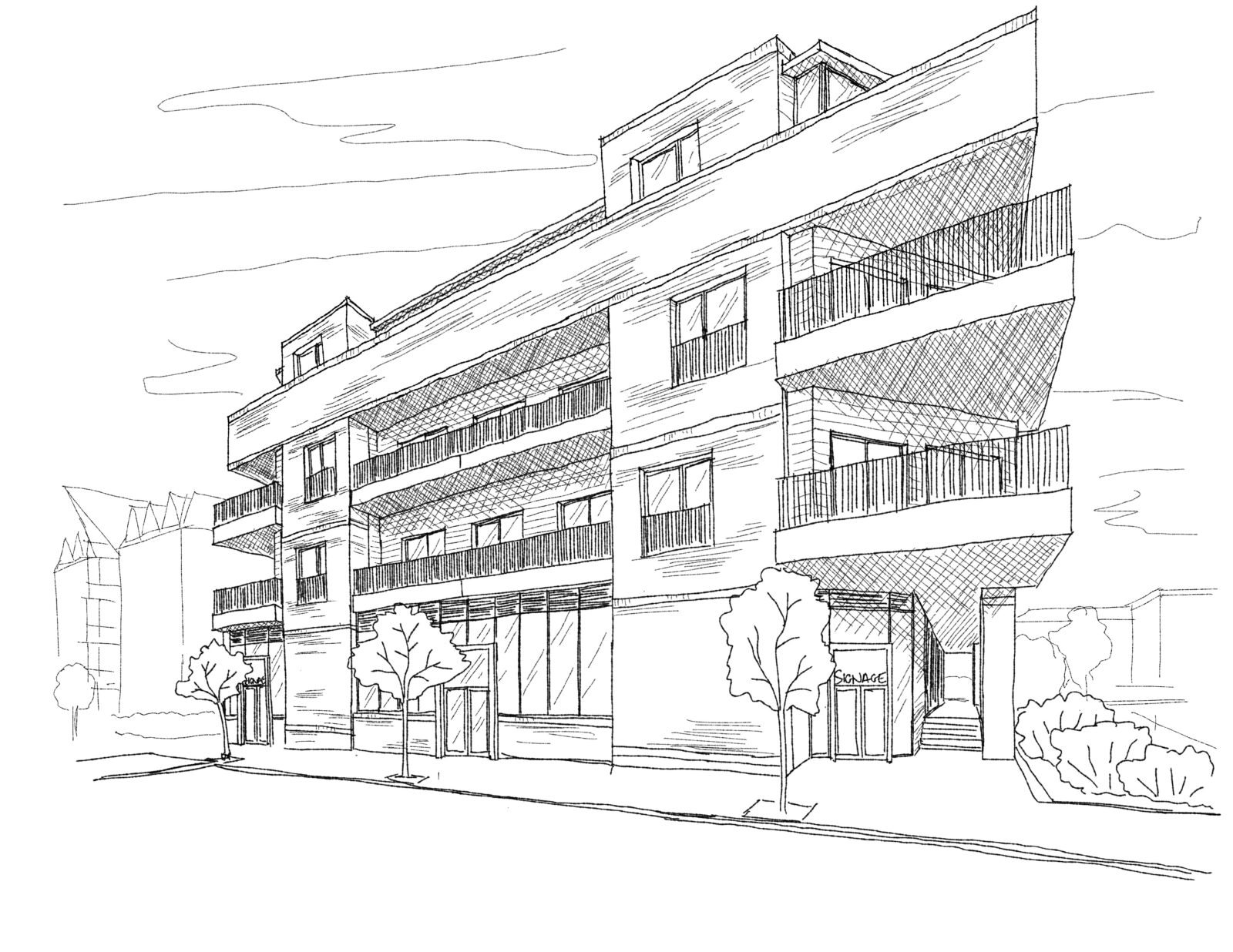 Sketch of the proposed Platinum House development